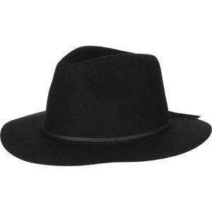 NEW Small Brixton Wesley Black Wool Hat Fedora